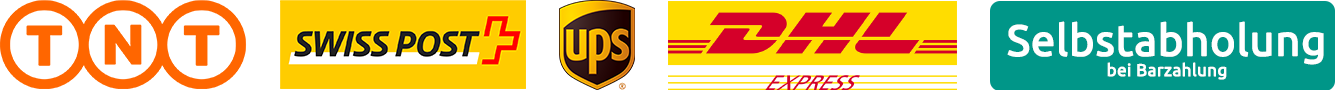 TNT, Swiss Post, UPS, DHL, Selbstabholung